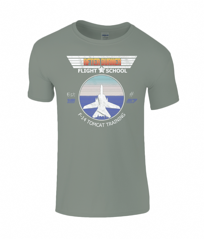 Afterburner Flight School Top Gun Mashup T-shirt